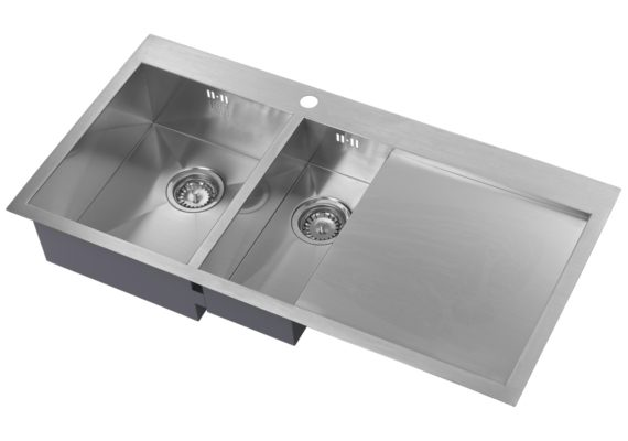 1.5 bowl sink with drainer