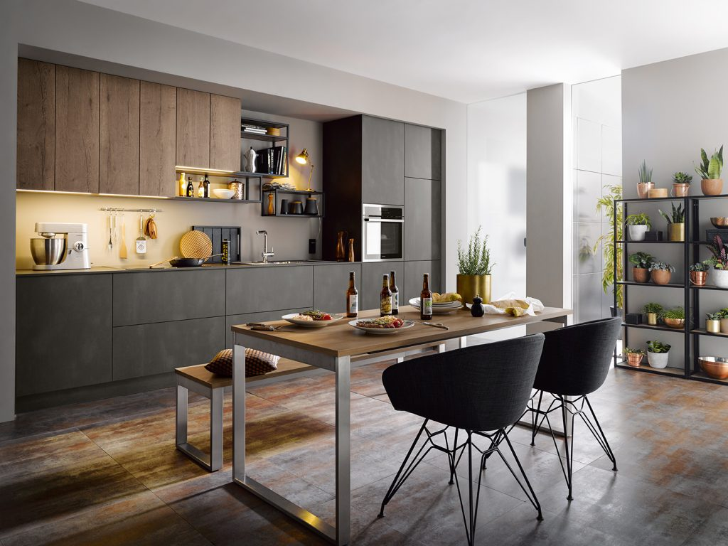 Schuller Targa Kitchen in dark steel