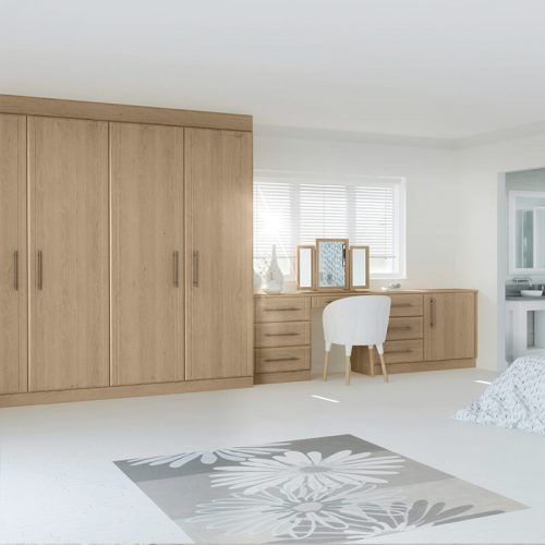 Lissa Oak built in wardrobes