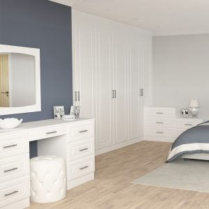 White Oak Fitted Wardrobes