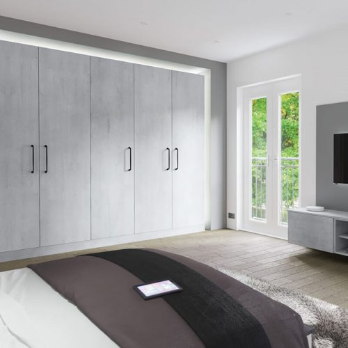 Boston Concrete fitted wardrobes