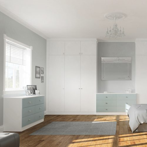 Fitted Wardrobes Super Matt White & Fjord