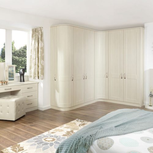 White Avola fitted wardrobes